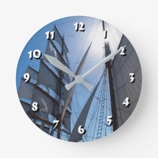 12 Number Choices to Choose-Ship Sails-Clock Round Clock