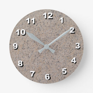 12 Number Choices to Choose- Tan-Gray Marble Clock