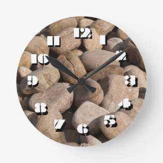 12 Number Choices to Choose-White Stone-Clock Wall Clock