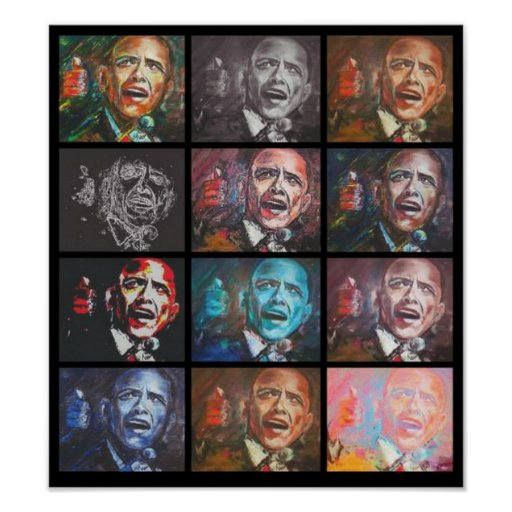 12 Obamas Poster