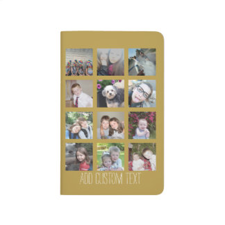 12 Photo Collage with Gold Background Journals