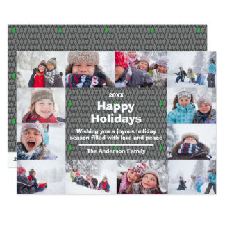 12 Photo Happy Holidays Collage - Christmas Card