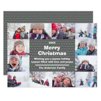 12 Photo Merry Christmas Collage - Christmas Card