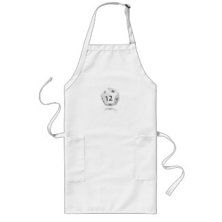 12-sided Die Long Apron