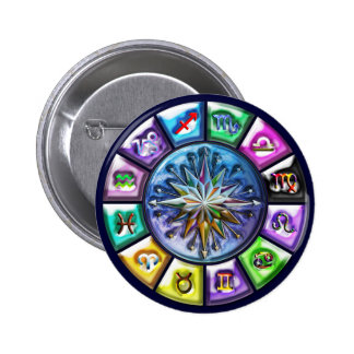 12 Signs of the Zodiac 2 Inch Round Button