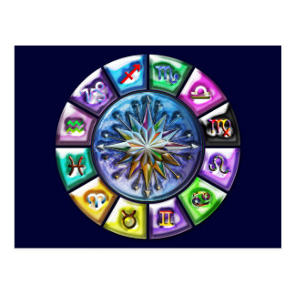 12 Signs of the Zodiac Postcard