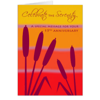 12 Step Birthday Anniversary 15 Years Clean Sober Greeting Card