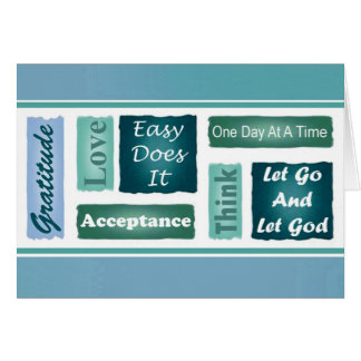 12 Step Inspirational Card