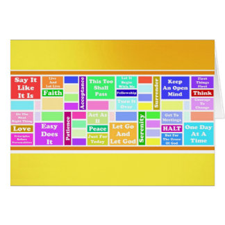 12 Step Slogans Card
