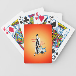 12 Strikes and I'm Perfect #1 Bicycle Playing Cards