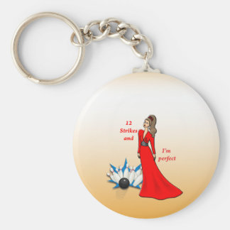 12 Strikes and I'm Perfect #2 Basic Round Button Keychain