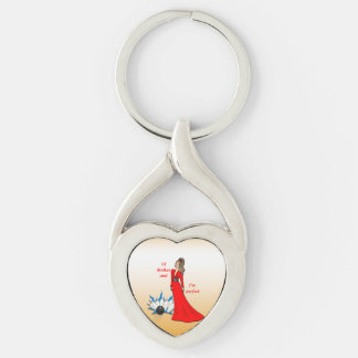 12 Strikes and I'm Perfect #2 Silver-Colored Twisted Heart Keychain