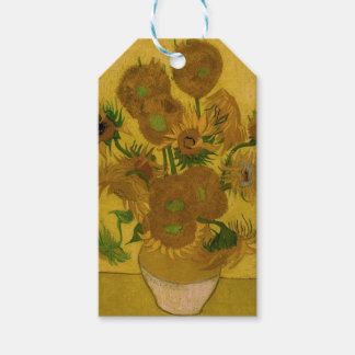 12 Sunflowers Pack Of Gift Tags