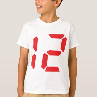 12 twelve  red alarm clock digital number T-Shirt