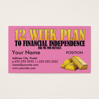 12 Week Plan - Business Card