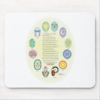 12 World Religion Symbols & Prayer Mouse Pad