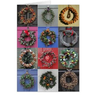 12 Wreaths Christmas card
