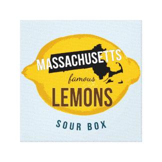 "12"" x 12"" Massachusetts Famous Lemons Canvas"