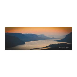 12 x 36 Sunrise on the Columbia River Gorge Canvas Print