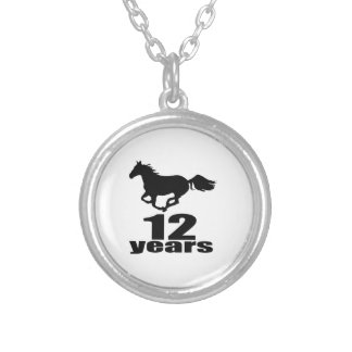 12 Years Birthday Designs Silver Plated Necklace