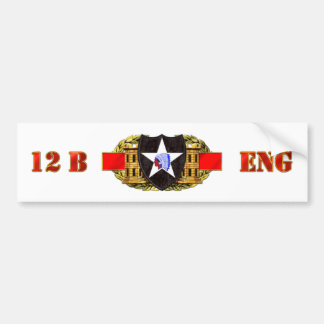 12B 2nd Infantry Division Bumper Sticker