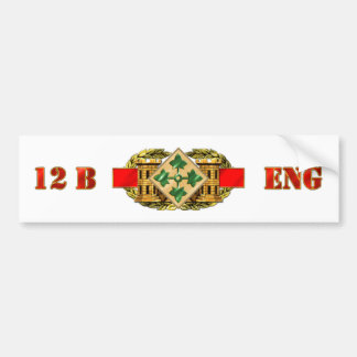 12B 4th Infantry Division Bumper Sticker