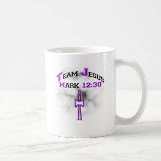 12h30 de marque de Jésus d'équipe Tasses