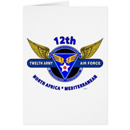 "12TH ARMY AIR FORCE ""ARMY AIR CORPS "" WW II GREETING CARDS"