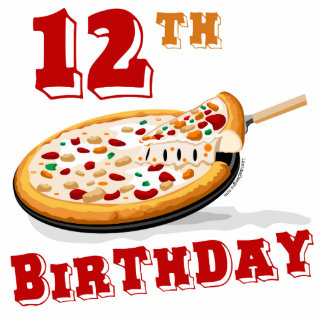 12th Birthday Pizza Party Acrylic Cut Out