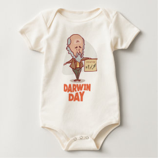 12th February - Darwin Day - Appreciation Day Baby Bodysuit