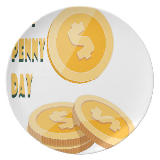 12th February - Lost Penny Day - Appreciation Day Plate