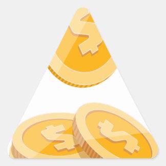 12th February - Lost Penny Day - Appreciation Day Triangle Sticker