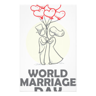 12th February - World Marriage Day Customized Stationery