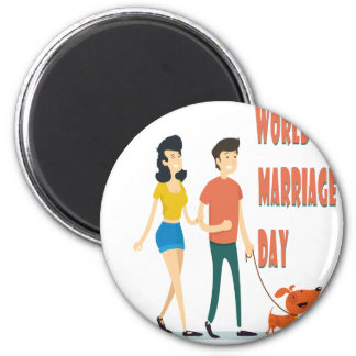 12th February - World Marriage Day Magnet