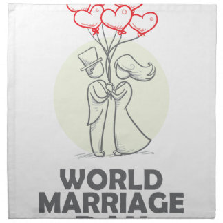 12th February - World Marriage Day Napkin