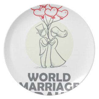 12th February - World Marriage Day Plate