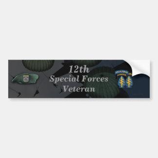 12th special forces green berets sf veterans vets bumper sticker