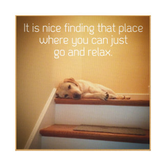 12x12 Canvas -A Place to Relax