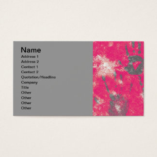 130 AFRICA HOT PINK GREY GRAY PEACE HANDS STOP CAU BUSINESS CARD