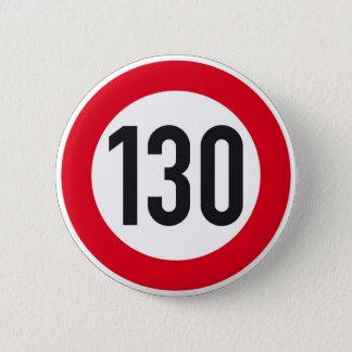 130 kph European highway sign button