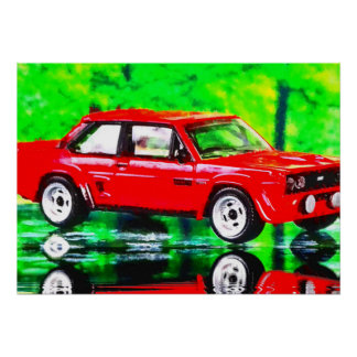 131 Abarth - digital Artwork Jean Louis Glineur Poster