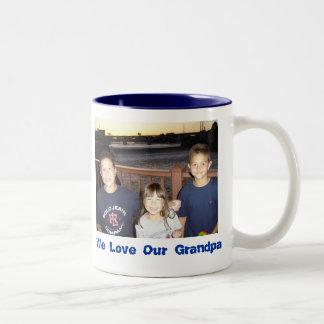 131, We Love Our Grandpa Two-Tone Coffee Mug