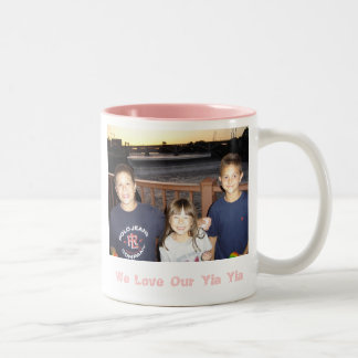 131, We Love Our Yia Yia Two-Tone Coffee Mug