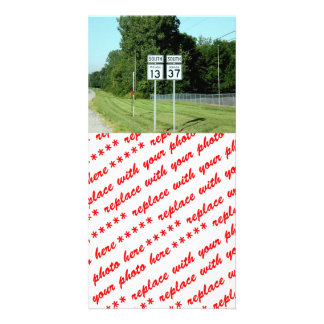 1337 INDIANA HIGHWAY SIGNS PICTURE CARD