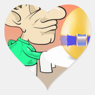 133Waiter_rasterized Heart Sticker