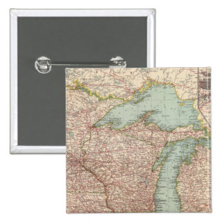 13435 Mich, Wis, Minn, Ia, Mo, Ill, Ind, Ky 2 Inch Square Button
