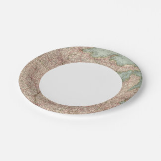 13435 Mich, Wis, Minn, Ia, Mo, Ill, Ind, Ky 7 Inch Paper Plate