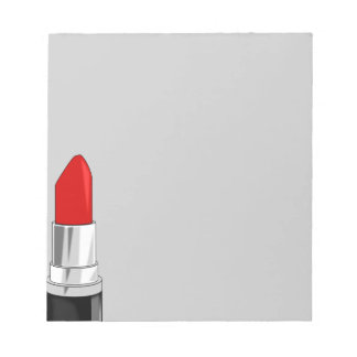 13479 RED LIPSTICK MAKEUP BEAUTY FASHION STYLE SAL NOTEPAD