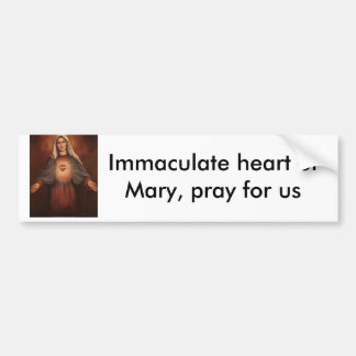136-22521~Mary-s-Immaculate-Heart-Posters, Imma... Bumper Sticker