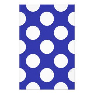 136 ROYAL BLUE SAILOR BRIGHT WHITE POLKA DOTS POLK STATIONERY DESIGN